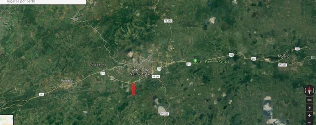 Vitória de Sto Antão=Vend. 155 mil terreno com 3.2 Hect. na BR-232 = Beira da Pista - Foto 4