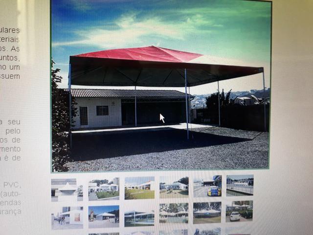 Tenda piramidal 12 por 12 completa com paredes. - Foto 3