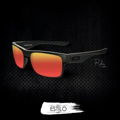 11ef74c9df060 Óculos Oakley Twoface Rubi 100% Polarizado - Entrega Grátis ...