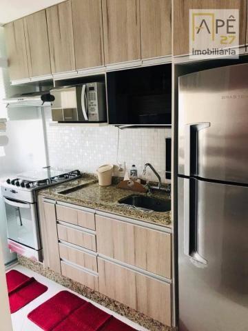 Apartamento 100% mobiliado com 2 dormitórios para alugar, 47 m² por R$ 1.850/mês - Ponte G - Foto 4
