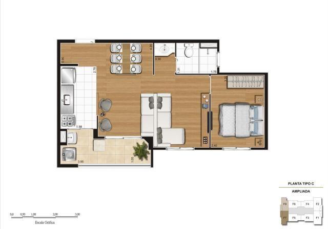 Apartamento em Vila Galvão, com 2 quartos, sendo 1 suíte e área útil de 55 m² - Foto 10