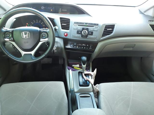 Honda Civic LXS 1.8 flex, automático, Branco, super novo - Foto 8