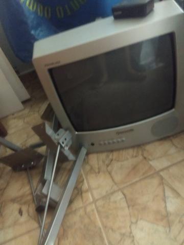 Vendo TVs tubo c/ suporte e conversor - Foto 3