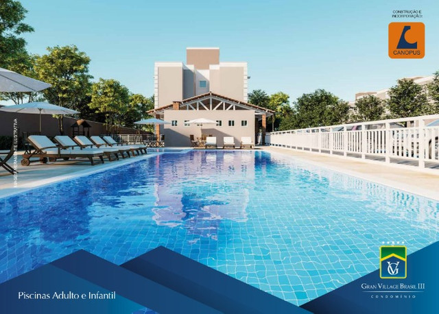 Condominio Clube, Gran Village Brasil 3, no turu. 2 quartos - Foto 4