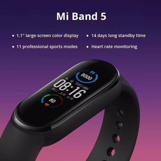Relógio SmartWatch Mi Band 5 Xiaomi Versão Global - Foto 5