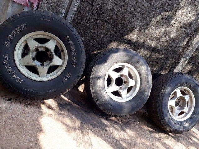 3 rodas aro 15 filé