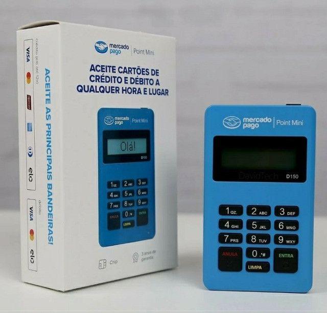 Maquininha de cartão sem mensalidades Point mini - Mercado Pago - Foto 2