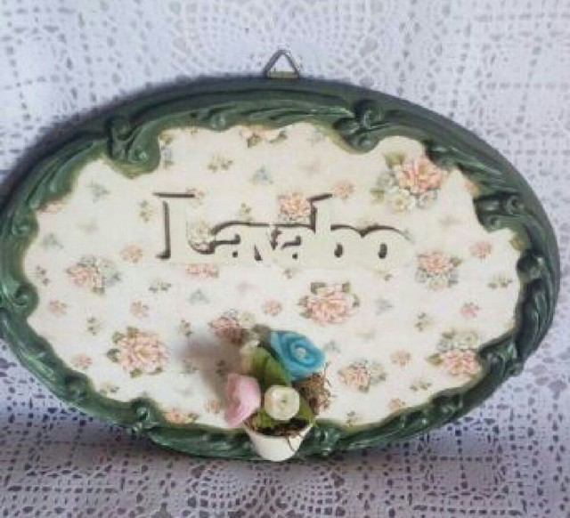 Placa decorativa lavabo - Foto 3