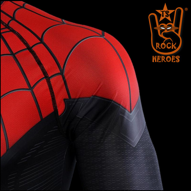 Camisa de Compressão Homem Aranha Longe de Casa Rashguard Manga Longa - Foto 5