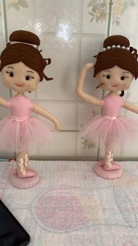 Bailarina em Feltro - Foto 2