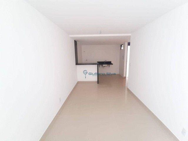 CÓD:AP0386- Apto novo no Bessa, 1° andar, posição: Nascente, 37,72m², 1 quarto, sala, wc s