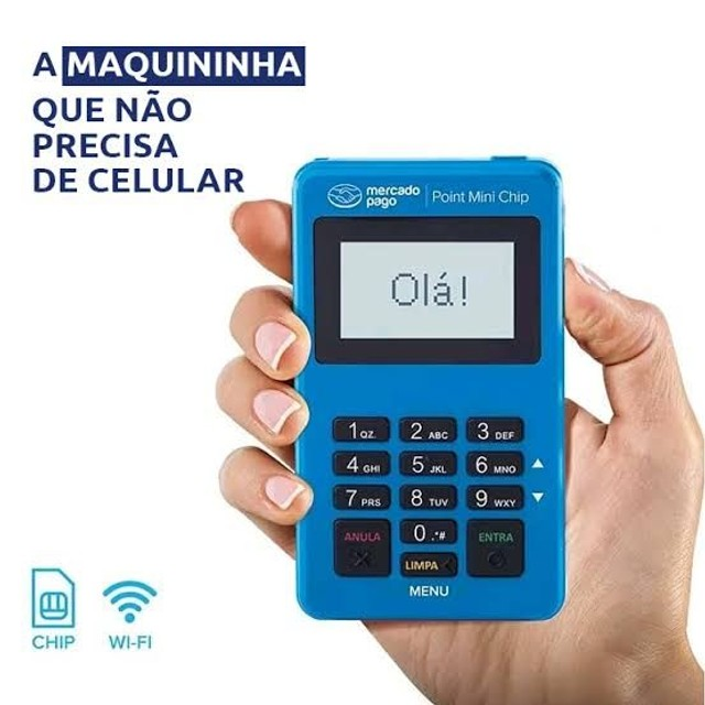 Máquina Point Mini Chip Mercado_ Pago Não precisa de celular
