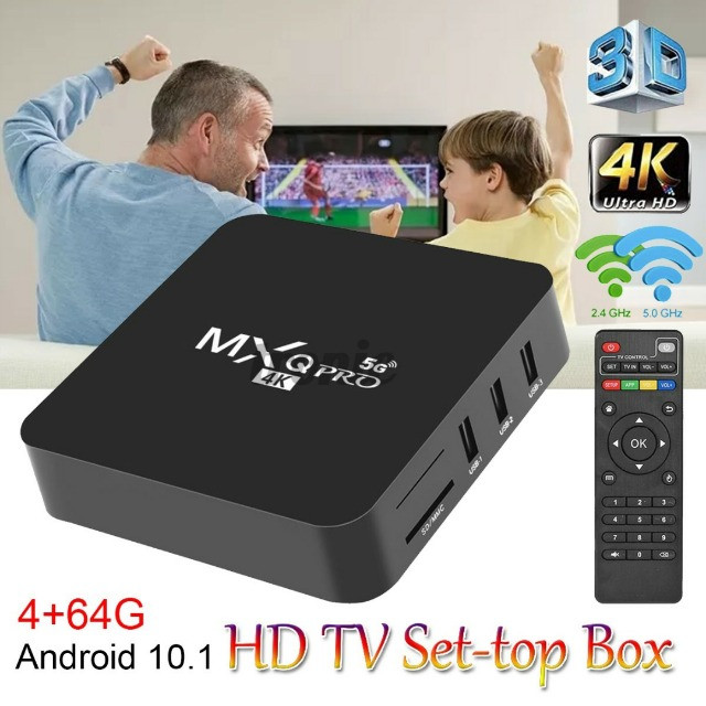 Mxq Tv Box Pro 4k Android 10.1 mais Mini Teclado Led Controle Bluetooth - Foto 5