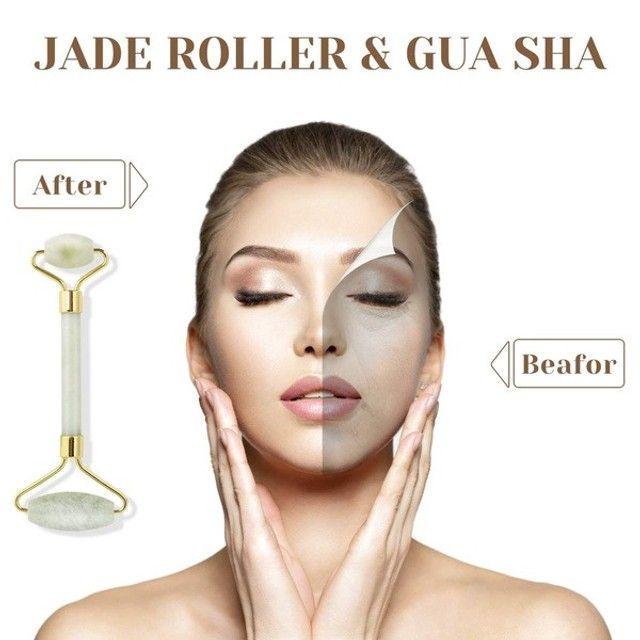 Kit de Jade Massageador Roller + Pedra Gua (a104) - Foto 5