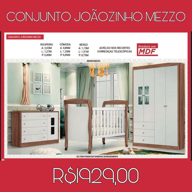 Conjunto Joãozinho Mezzo Quarto Infantil 039
