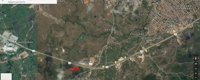 Vitória de Sto Antão=Vend. 155 mil terreno com 3.2 Hect. na BR-232 = Beira da Pista - Foto 5