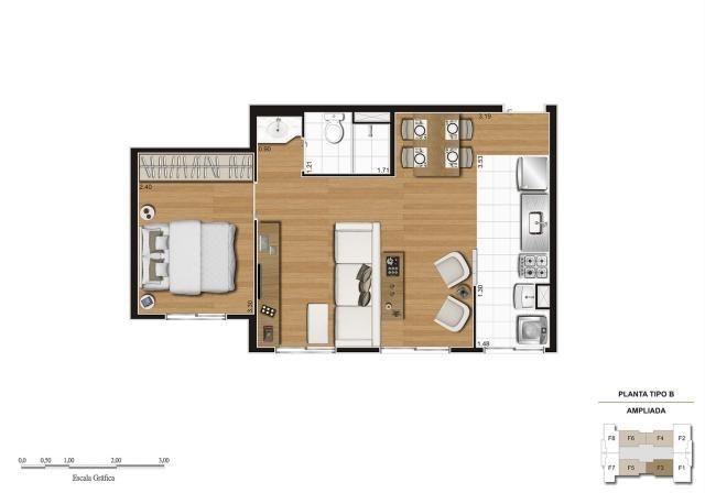 Apartamento em Vila Galvão, com 2 quartos, sendo 1 suíte e área útil de 55 m² - Foto 9