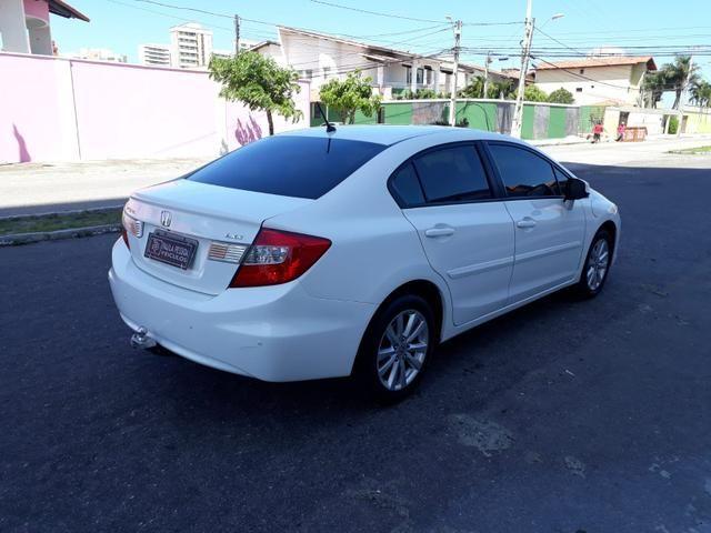 Honda Civic LXS 1.8 flex, automático, Branco, super novo - Foto 4
