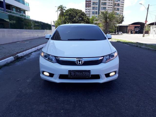Honda Civic LXS 1.8 flex, automático, Branco, super novo - Foto 5