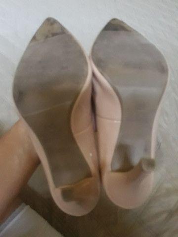 Sapato Scarpin Bico Fino Rosê - Foto 6