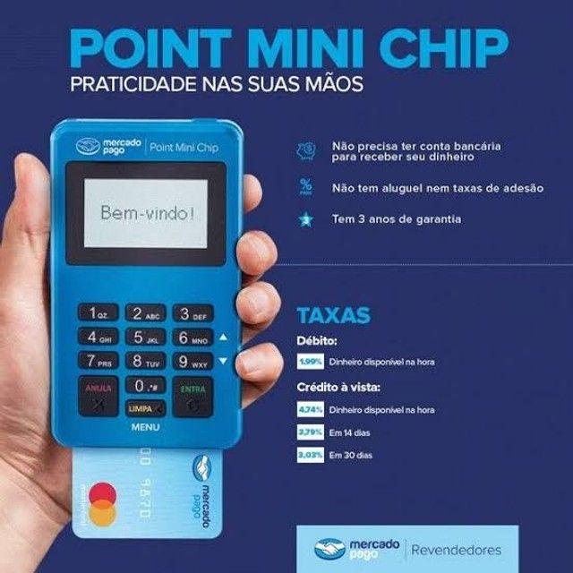 Máquina Point Mini Chip Mercado_ Pago Não precisa de celular - Foto 3