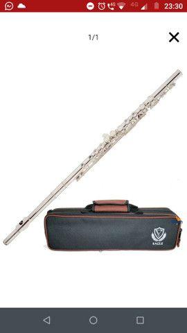 Flauta Transversal Eagle Prateada FLO3S