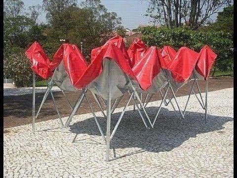 Tenda Sanfonada 3x3 Nylon/Emborrachada - Foto 4