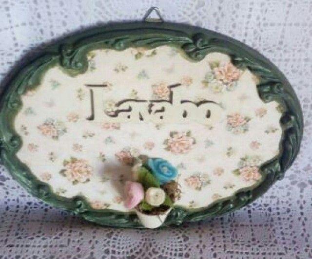 Placa decorativa lavabo - Foto 2