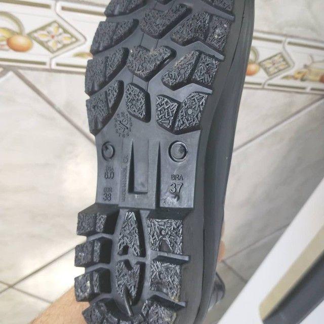Bota sapato N 37,Cano curto,Borracha,Crival,NOVA/ACEITO TROCA - Foto 2