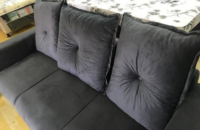 Frete Gratis*Conjunto Sofa Animalle 2 e 3 Lugares, Novo!! - Foto 4
