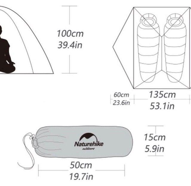 Barraca Naturehike Mongar 2 Ultralight 1,7kg barraca zero e top - Foto 5