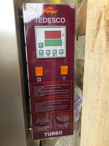 Forno turbo gás 10 telas em inox - marca tedesco -panificação - pão- supermercado - Foto 2