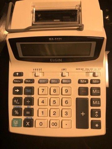 Calculadora com bobina 12 dígitos acompanha fonte - Foto 3