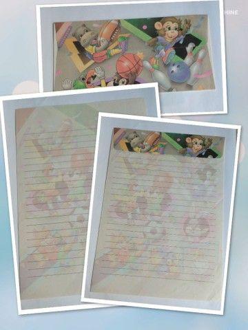 Papel de carta com envelope