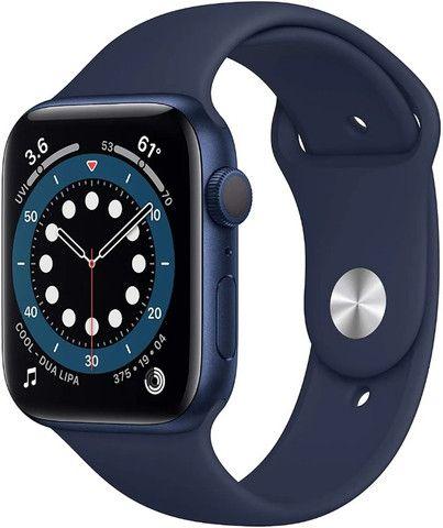 Apple Watch S6 44mm- Preto/Prata/Azul - 12X Sem Juros - Foto 3