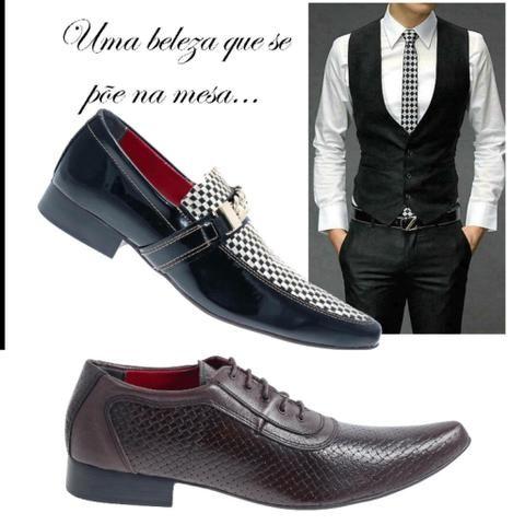 fbc39f7427b76 Sapatos social masculino - luxo - feitos artesanalmente - COURO PURO - Foto  5