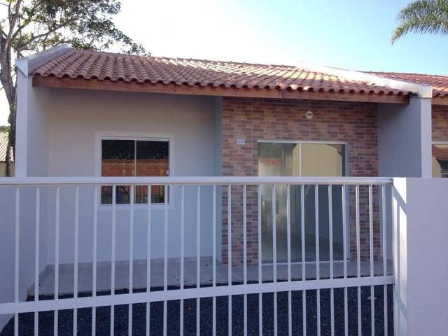 Casa nova c/ 2 quartos, próx. a Ponte Pênsil de Barra Velha, fácil entrada e financiamento