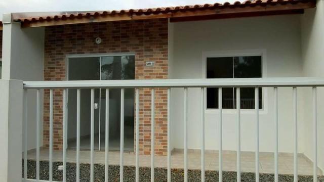 Casa nova c/ 2 quartos, próx. a Ponte Pênsil de Barra Velha, fácil entrada e financiamento - Foto 2