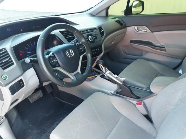 Honda Civic LXS 1.8 flex, automático, Branco, super novo - Foto 9