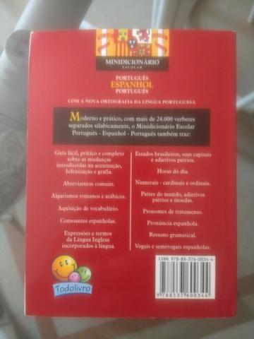 Mini dicionário Escolar Português Espanhol Português - Foto 2