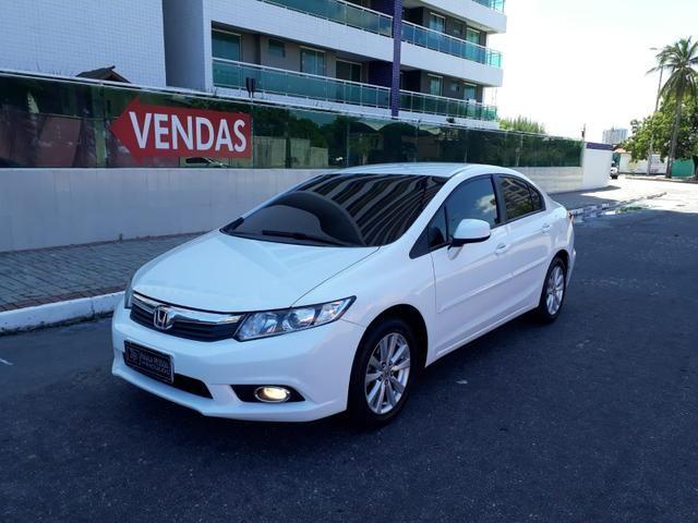 Honda Civic LXS 1.8 flex, automático, Branco, super novo