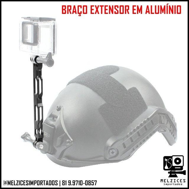 Braço Extensor em Alumínio 16cm Para GoPro e Similares