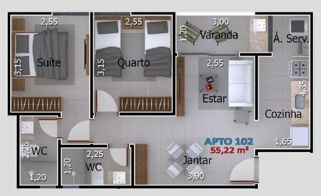 Apartamentos com 2 quartos no Portal do Sol/Quadramares - Foto 9