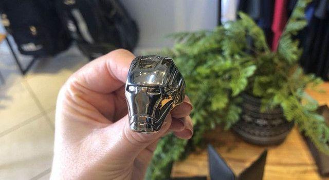 Anel de aço inoxidável - Homem de ferro - Foto 2