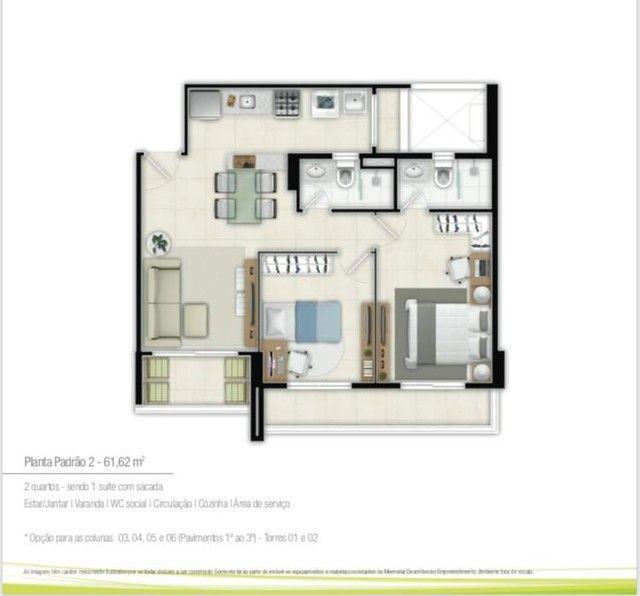 Duo residence, 2 e 3 qusrtos NOVO, pronto pra morar - Foto 3