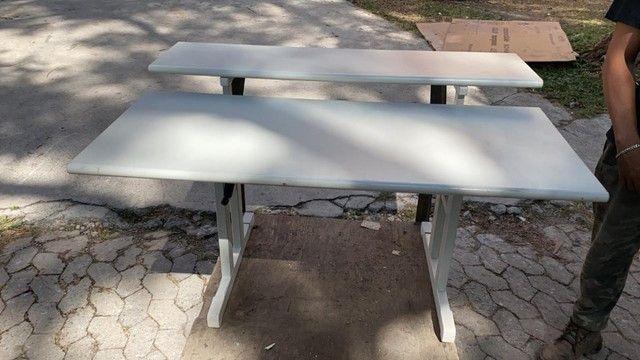 Mesa Ergonomica com Regulagem de altura - Promoçao - Foto 2