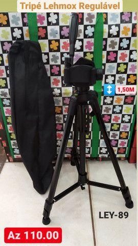 Tripé Universal Câmera Celular Foto Profisional 1.5m