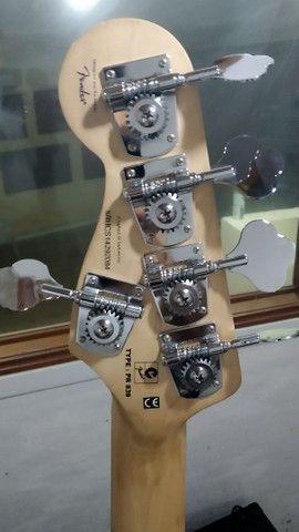 Baixo ativo Squier Jazz Bass Delux V - Foto 2