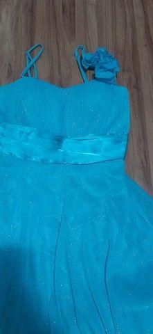 Vestido festa azul pastel - Foto 2