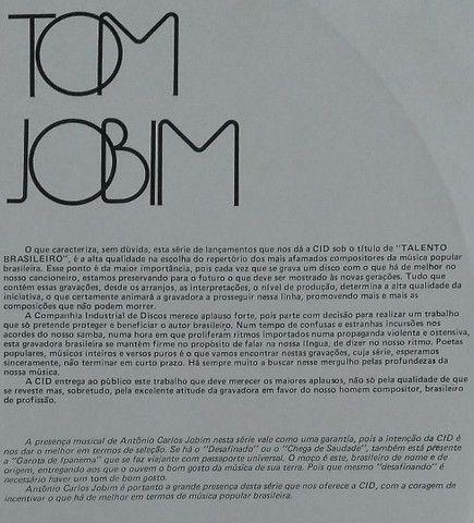 Lp Talendo Brasileiro 4 Tom Jobim disco vinil - Foto 4